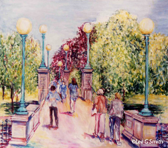Paintings Of Boston Scenes By Lee G Smith